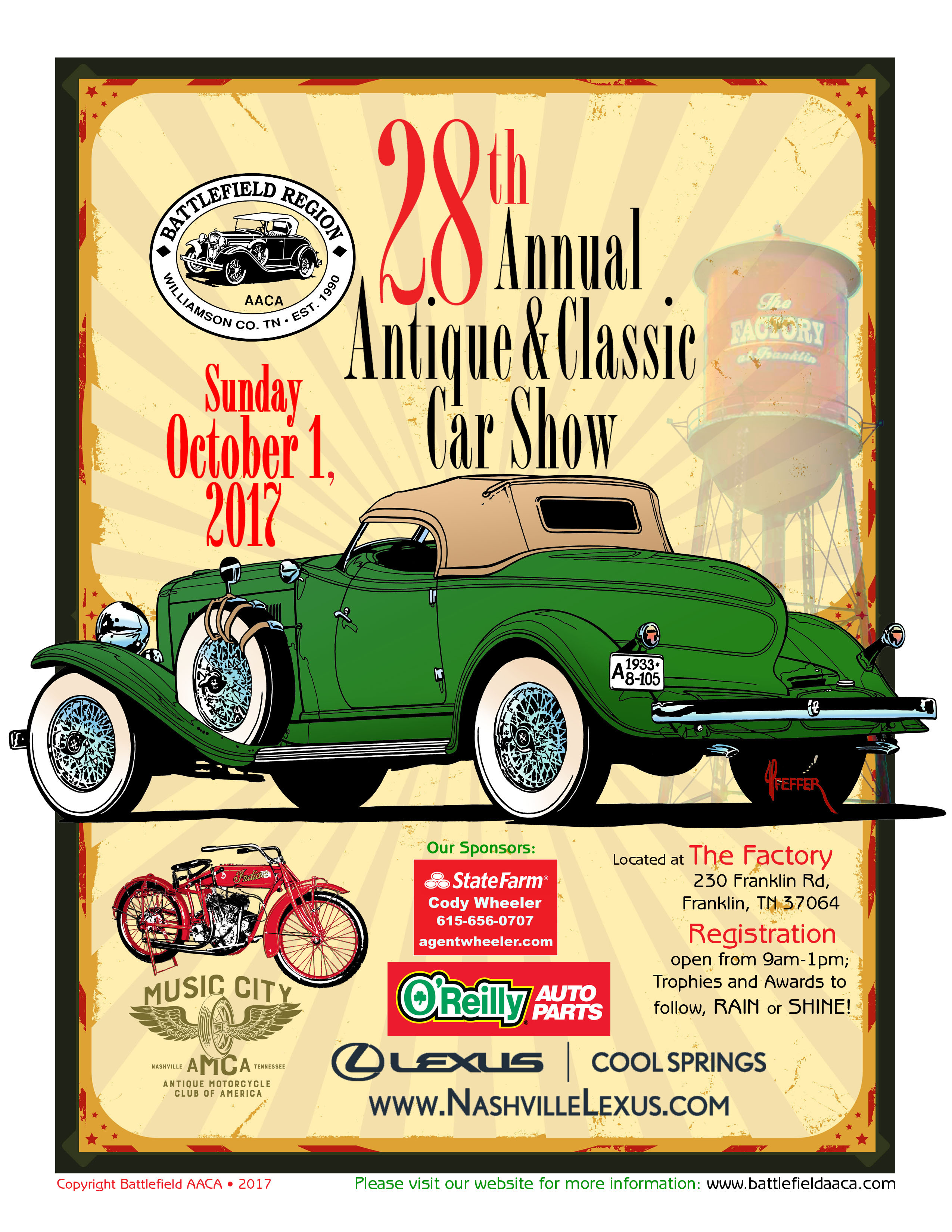 Battlefield AACA Antique And Classic Car Show Honk Rattle Roll - Aaca car show